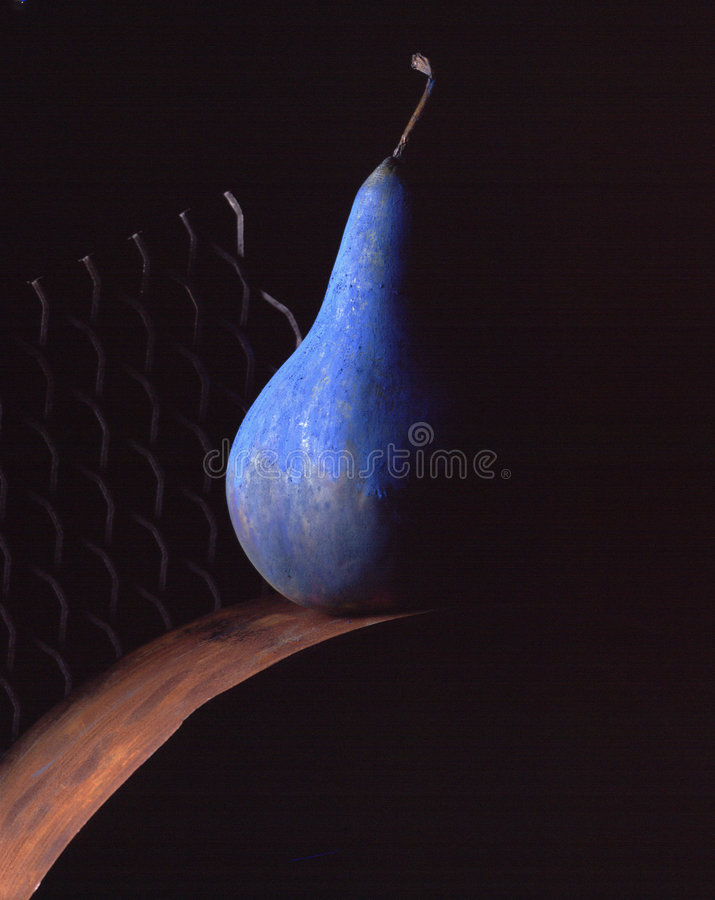 Download Blue pear. stock image. Image of blue, arts, conceptual, fruit - 1393