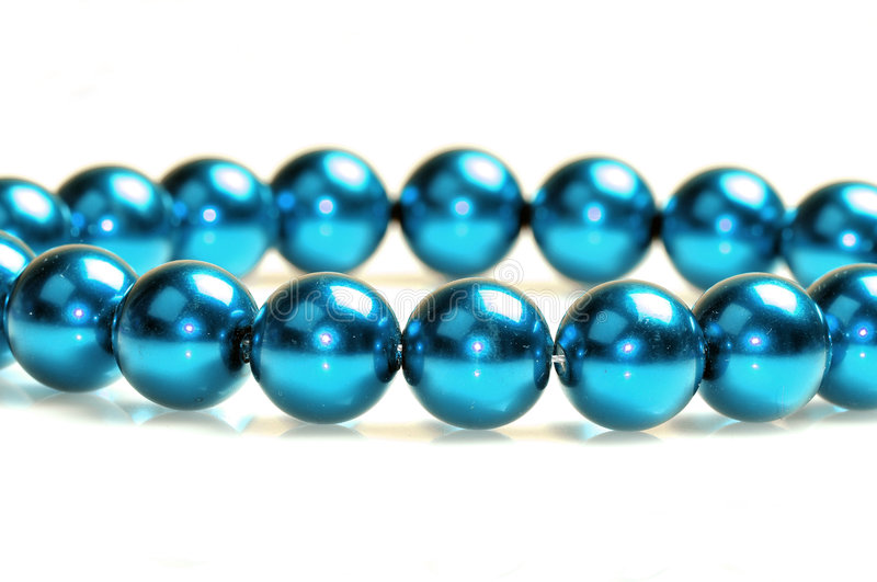 Blue Pearls Stock Photography
