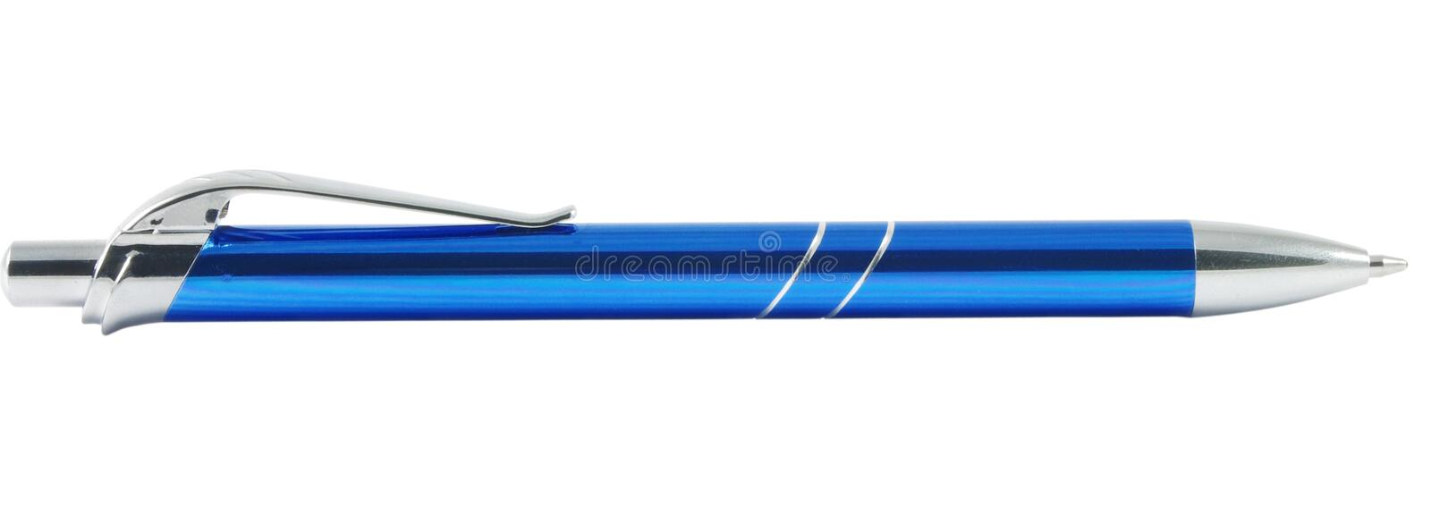 Download Blue pen stock photo. Image of work, ballpoint, chrome - 19121784