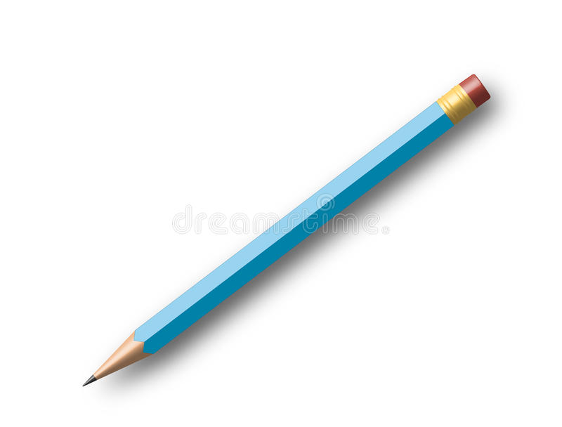 Download Blue pencil stock illustration. Illustration of author - 11257890