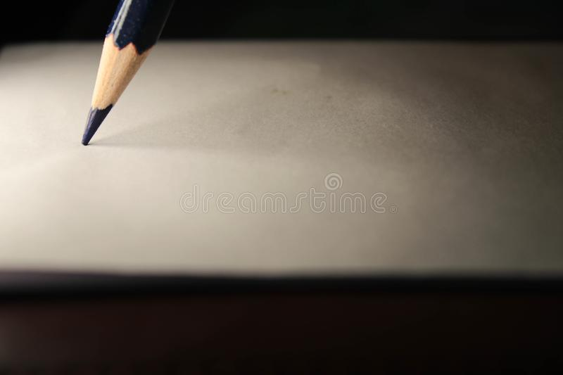 Pencil on sheet royalty free stock photo