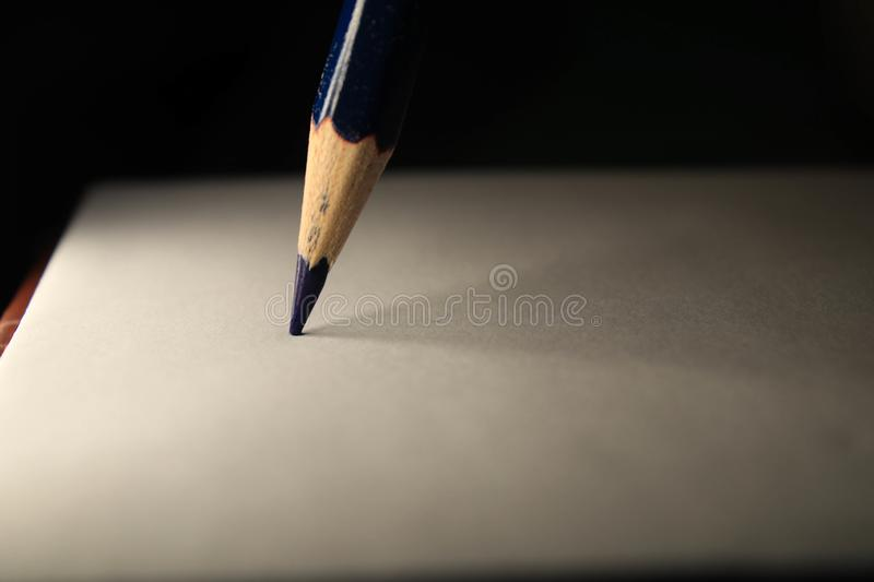 Pencil on sheet royalty free stock photography