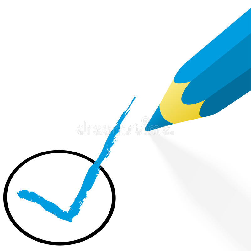 Free Blue Pencil With Hook Royalty Free Stock Photography - 83744197
