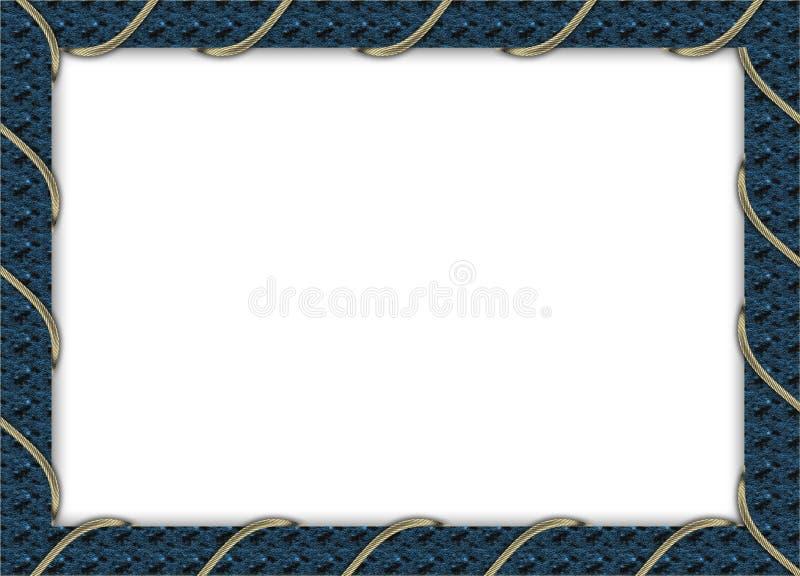 Blue Photo Frame Royalty Free Stock Photos
