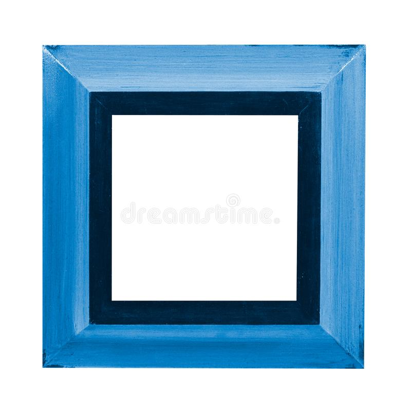 Blue picture frame royalty free stock image