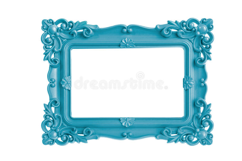 Blue Picture Frame stock photography
