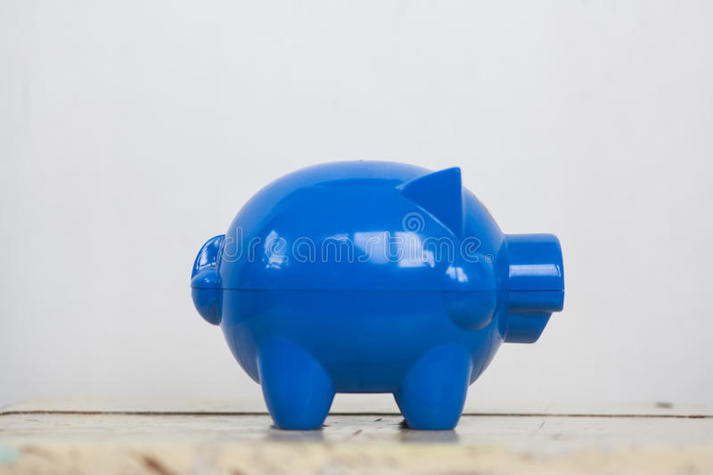 Blue piggy bank. Color image of a blue piggy bank stock images