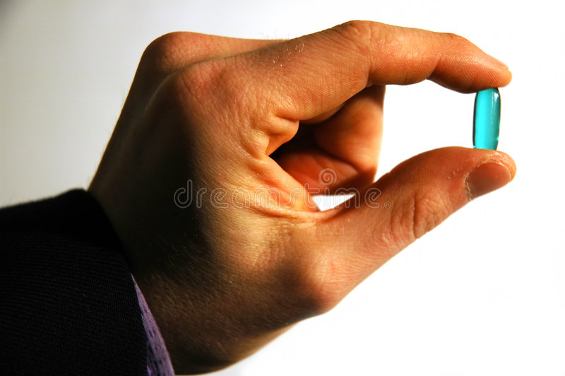 Download Blue Pill stock image. Image of give, omega, fingers, vitamin - 152149