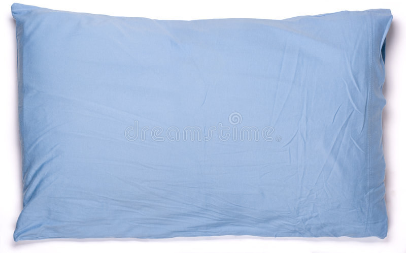 Download Blue pillow stock photo. Image of night, comfortable, horozontal - 9278726