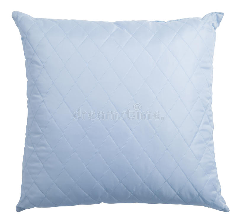 Blue pillow isolated with clipping path royalty free stock photography