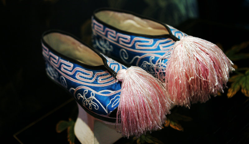Download Blue and pink Asian shoes stock image. Image of decor - 2143197