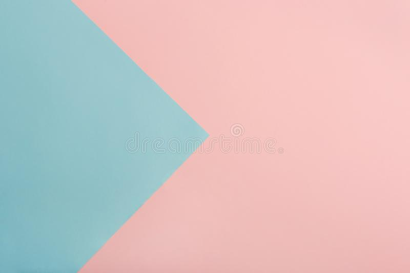 Blue and pink color paper background stock images
