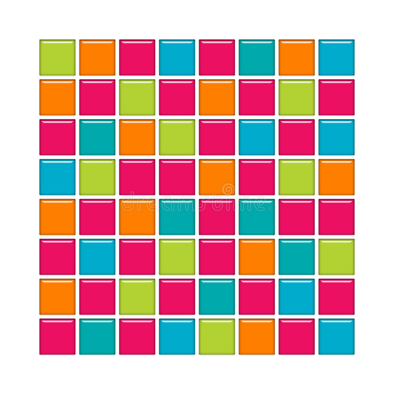 Free Blue, Pink, Orange And Green Glass Tiles Royalty Free Stock Photo - 5002195