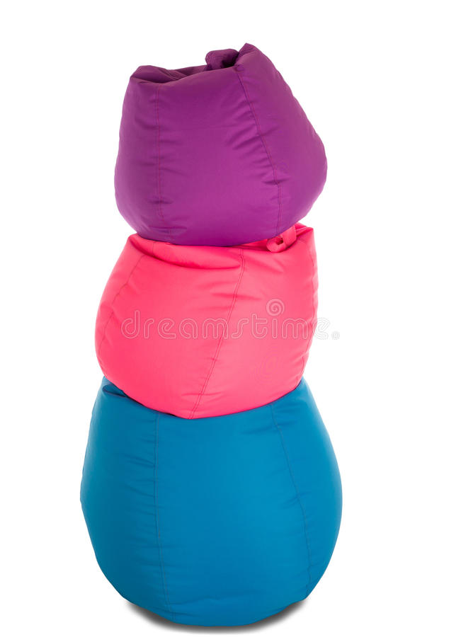 Blue, Pink And Purple Beanbag Chairs For Living Room Lie On Each ...