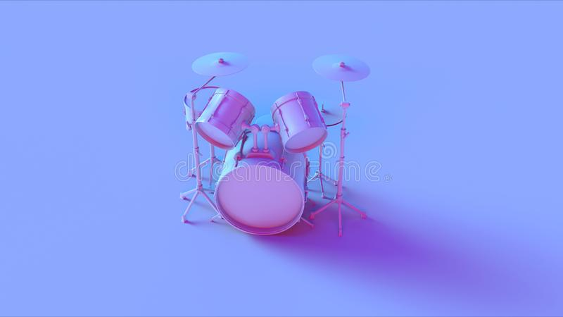 Blue Pink Vintage Drum Kit stock photos
