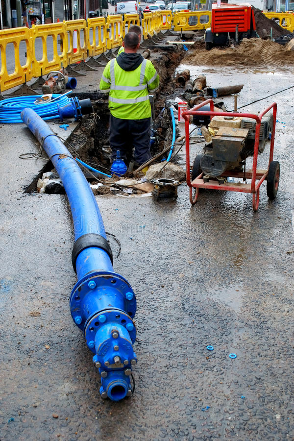 Blue pipe royalty free stock photos
