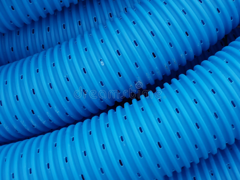 Blue pipe lines stock photos