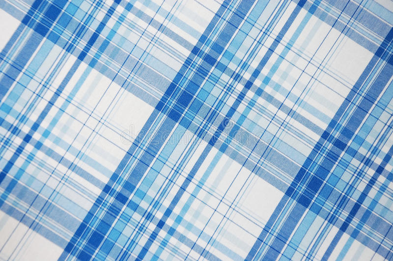 Blue plaid pattern. Close up stock images