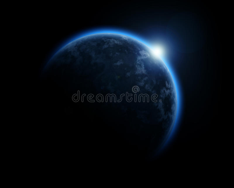 Blue planet stock illustration
