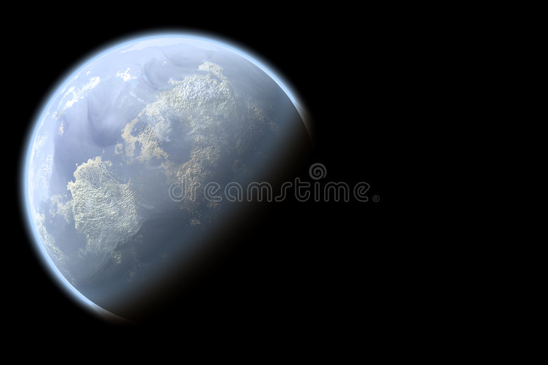 Download Blue planet stock illustration. Image of astronomy, geography - 7658457