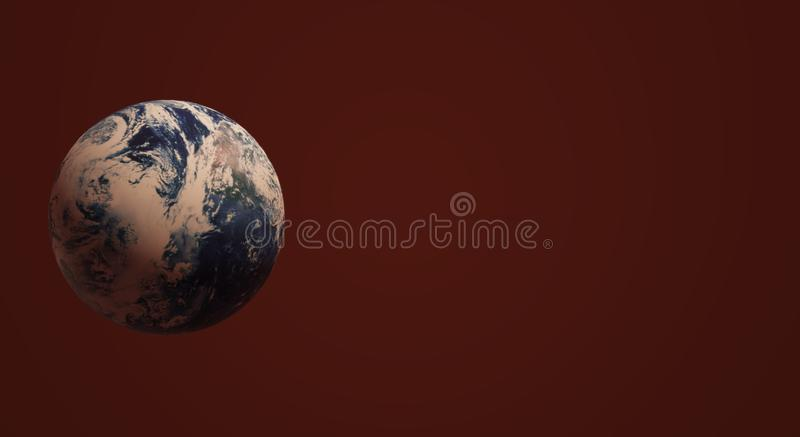 Blue planet 3d rendering  for earth day and  eco content vector illustration