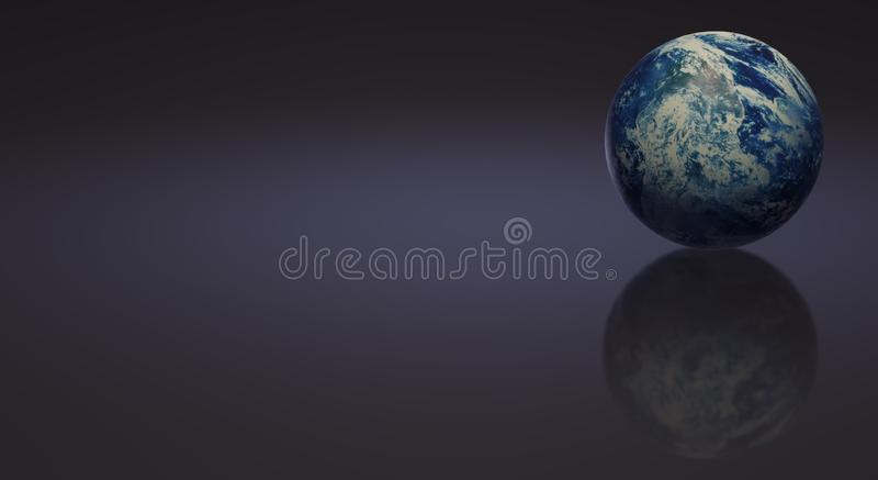 Blue planet 3d rendering  for earth day and  eco content royalty free illustration