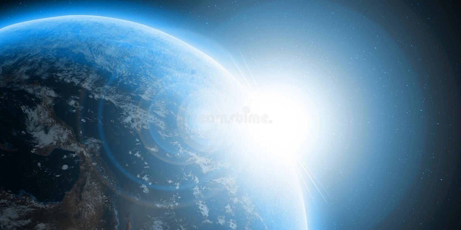 A blue planet earth stock illustration