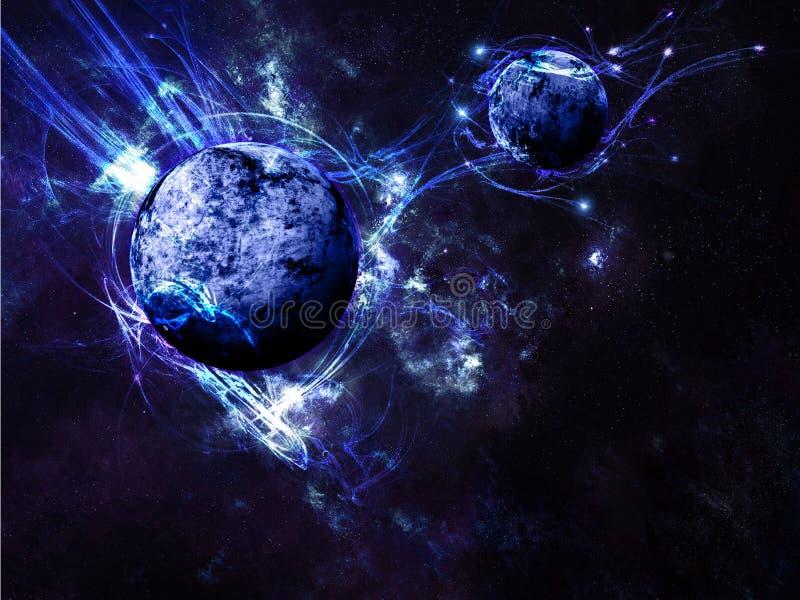 Download Blue Planet Space Scene Background Stock Illustration - Image: 43088453