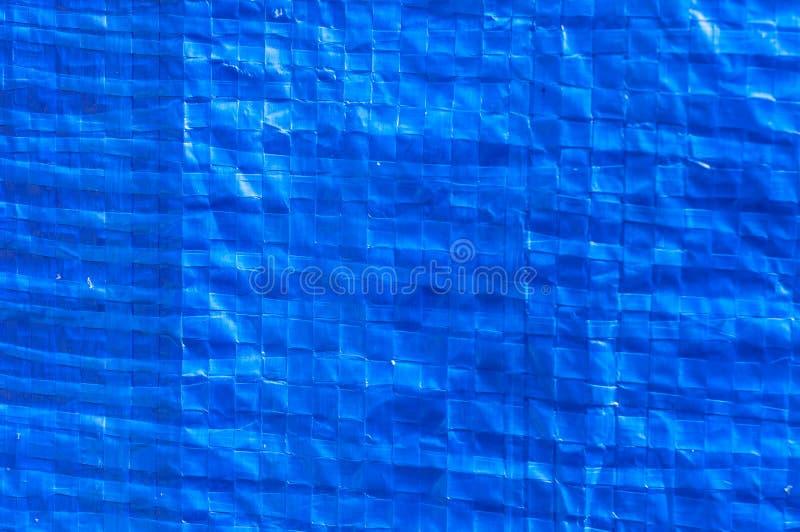 Blue plastic bag . stock photo
