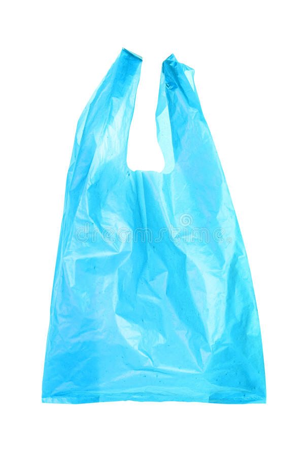 Blue plastic bags stock photography