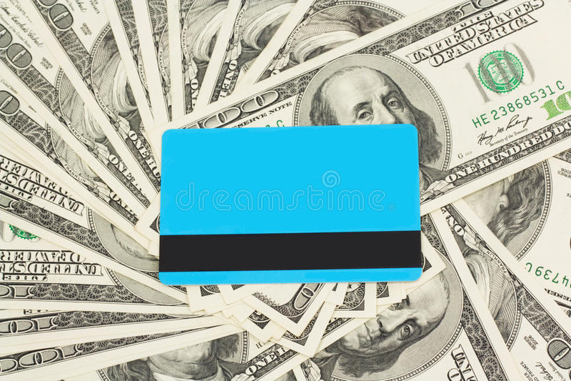 Blue Plastic Card Stock Photo