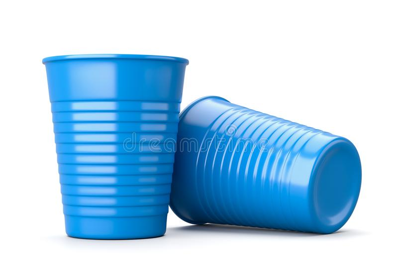 Plastic Cup on White stock illustration