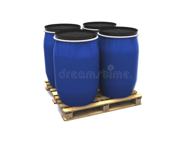 Blue plastic drums royalty free stock images