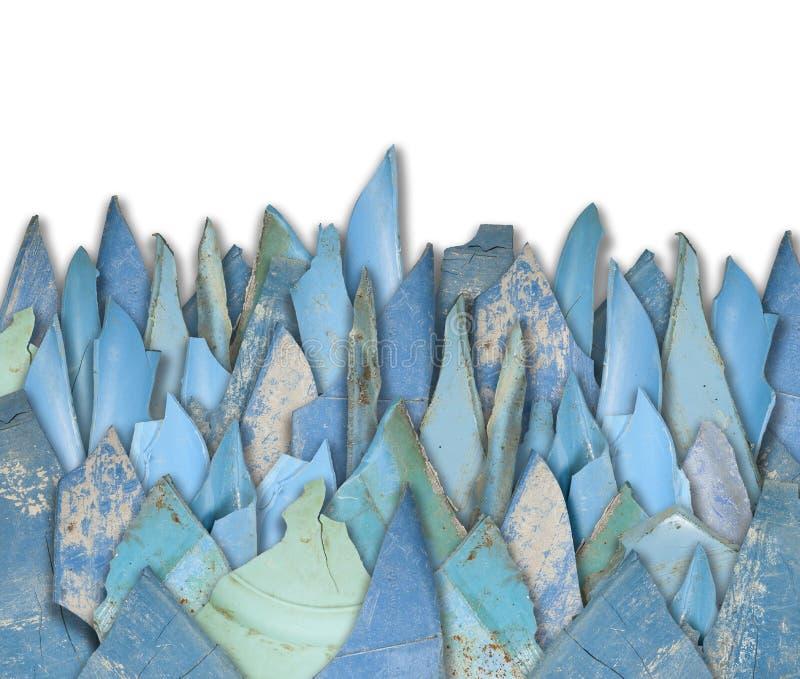 Blue plastic shards stock photography