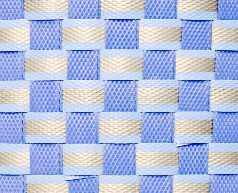 Blue plastic wicker stock photography