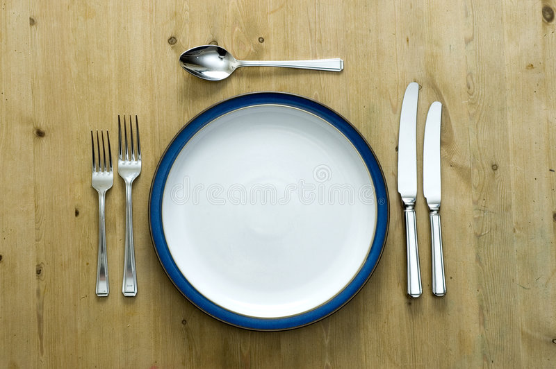 Download Blue Plate Setting stock image. Image of family meal - 4512357 & Blue Plate Setting stock image. Image of family meal - 4512357