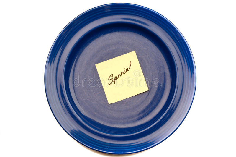 Blue plate special royalty free stock photography