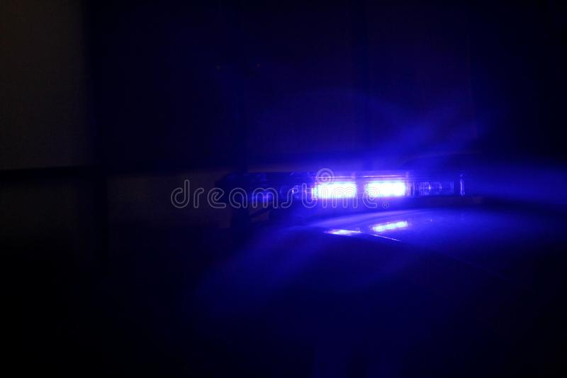 Blue police car light stock illustration