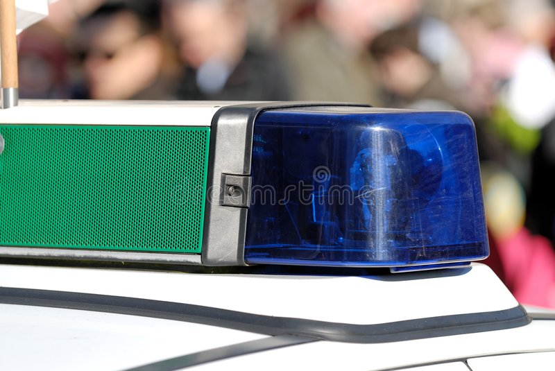 Download Blue police light stock image. Image of object, bright - 1952075