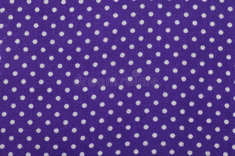 Blue polka dot fabric royalty free stock photos