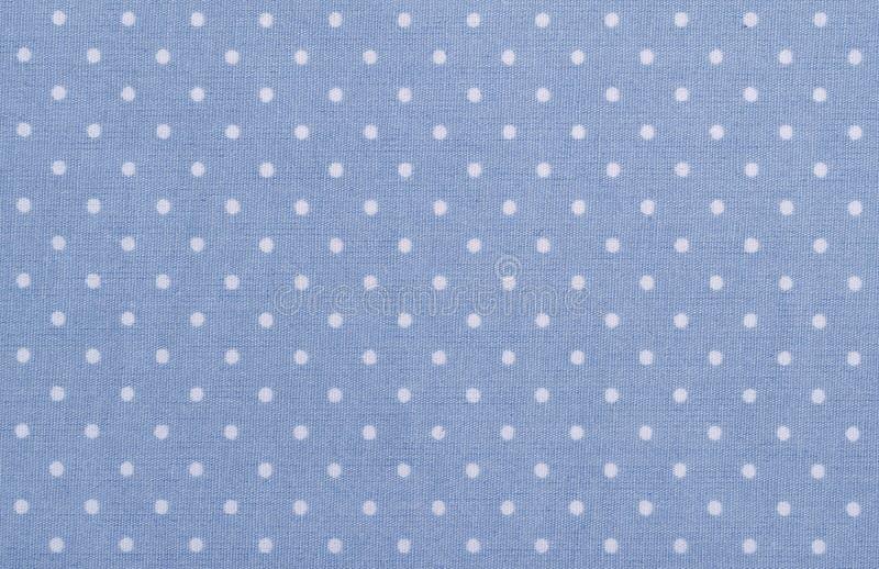 Blue Polka Dot Fabric Royalty Free Stock Image