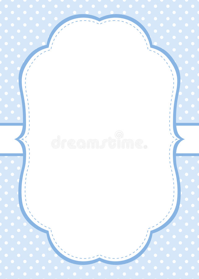 Blue Polka Dot Invitation Template Stock Vector  Illustration Of