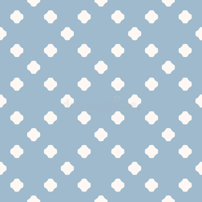 Blue polka dot seamless pattern. Simple vector abstract texture with dots in square grid. vector illustration