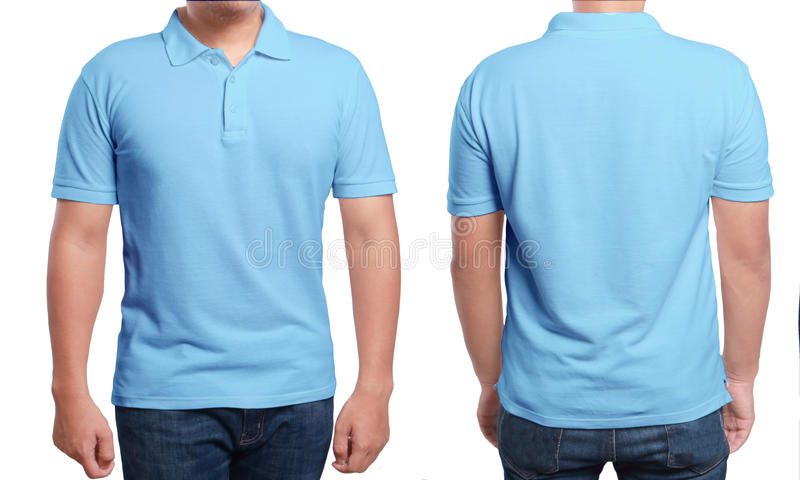 blue polo shirt design template stock image image of
