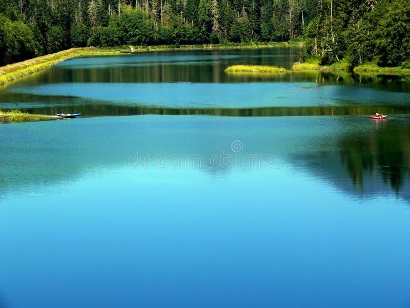 Blue Pond royalty free stock image