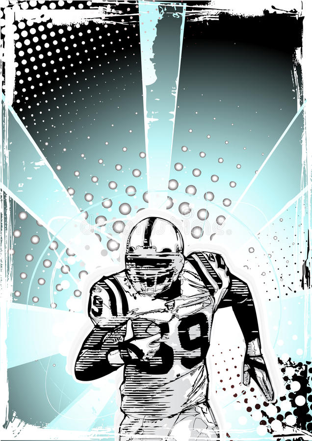 Download Blue Poster Of American Football Royalty Free Stock Photography - Image: 17192997