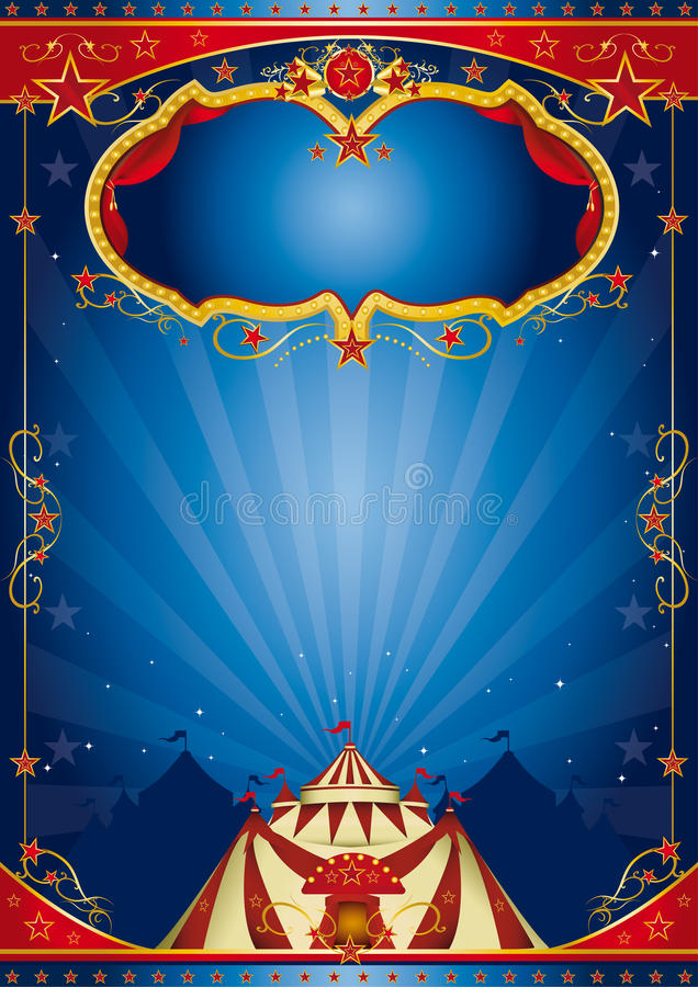 Blue Poster Circus Royalty Free Stock Images Image 27839869