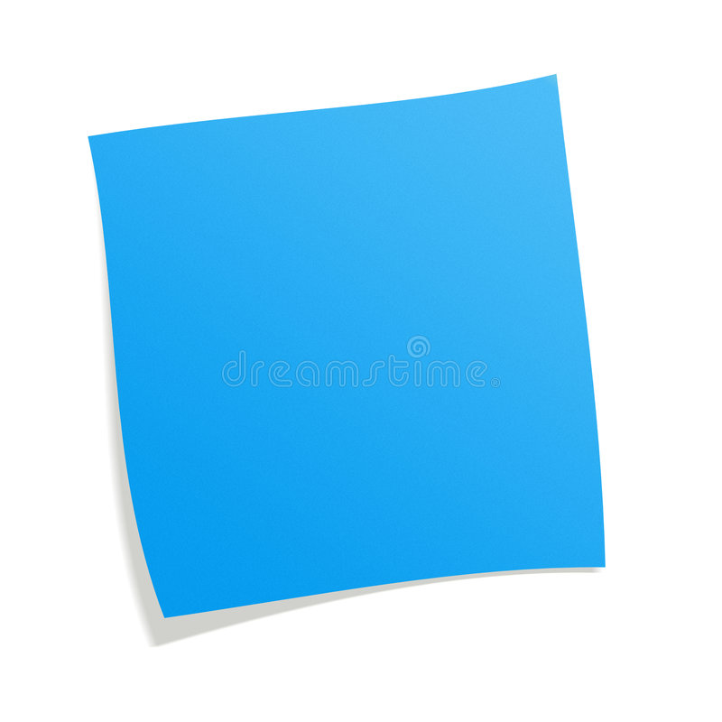blue postit stock image image of postit here square