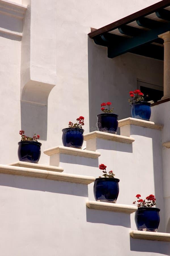 Blue Pots stock photo