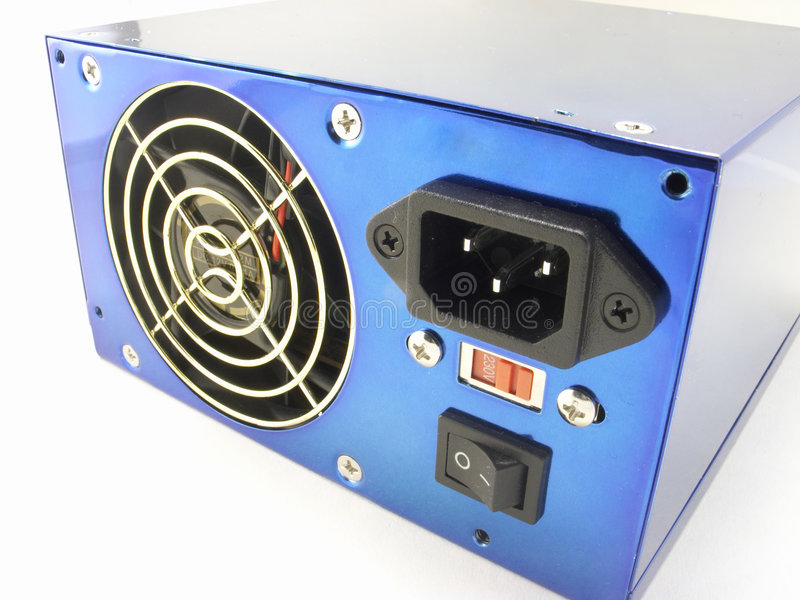 Download Blue power supply stock photo. Image of closeup, supply - 479584